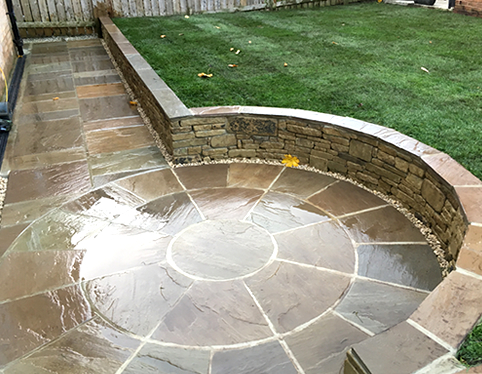 tiered garden and turfing barnsley