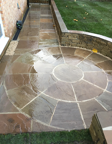 patio and tiered garden penistone